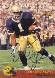 1996 Classic NFL Rookies Autographs #17 Derrick Mayes