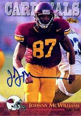 1996 Classic NFL Rookies Autographs #58 Johnny McWilliams