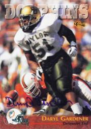 1996 Classic NFL Rookies Autographs #11 Daryl Gardener