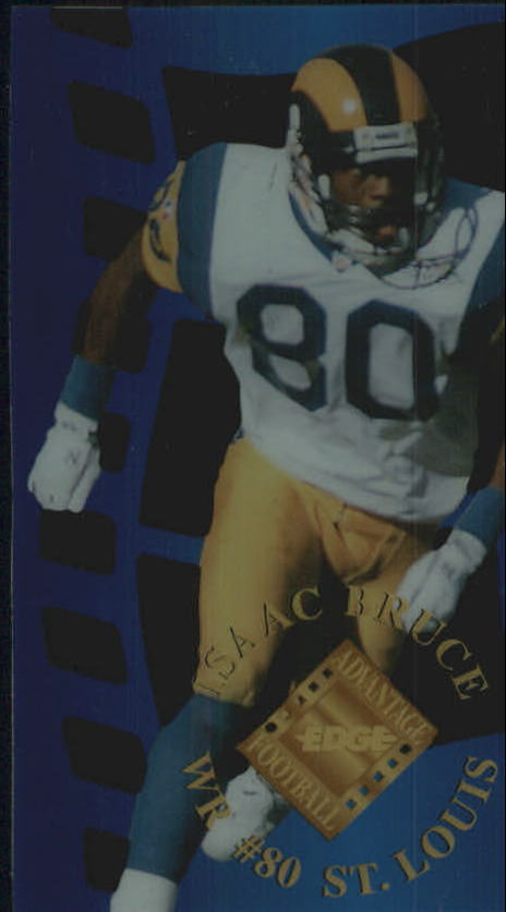 1996 Collector's Edge Advantage Crystal Cuts #CC22 Isaac Bruce