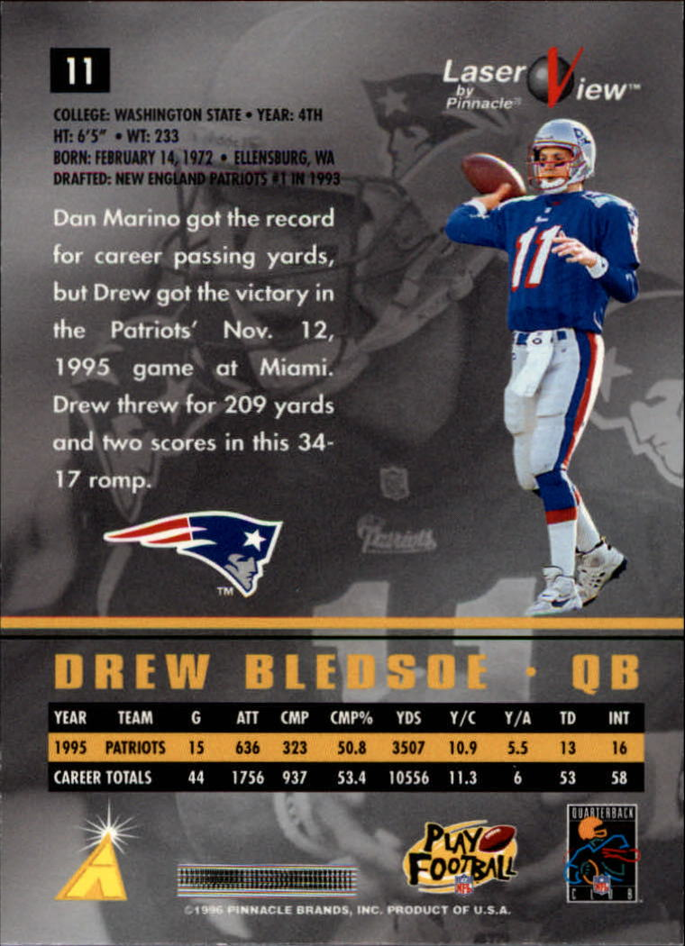 1996-Laser-View-Football-1-40-Your-Choice-GOTBASEBALLCARDS thumbnail 17