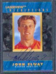 1996 Laser View Inscriptions #6 John Elway/3100