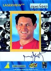 1996 Laser View Inscriptions #25 Steve Young/1950 back image