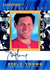 1996 Laser View Inscriptions #25 Steve Young/1950