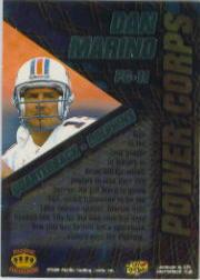 1996 Pacific Power Corps Foil #PC11 Dan Marino back image