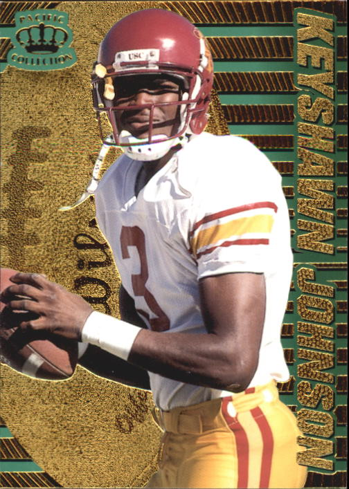 1996 Pacific Dynagon #100 Keyshawn Johnson RC