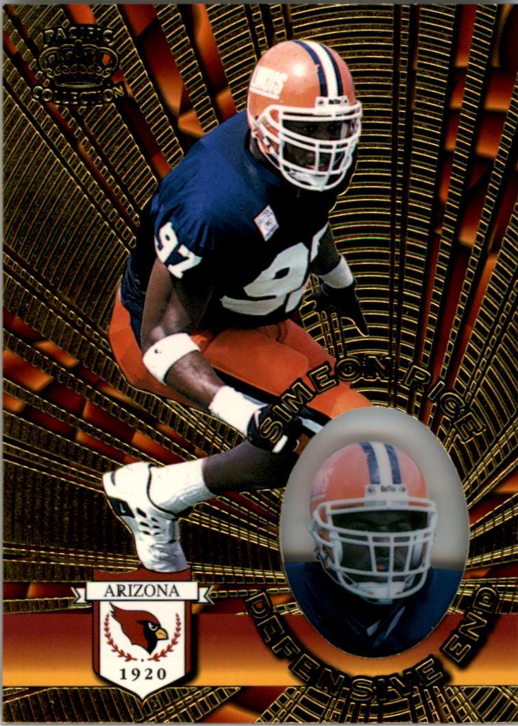 1996 Pacific Invincible #4 Simeon Rice RC