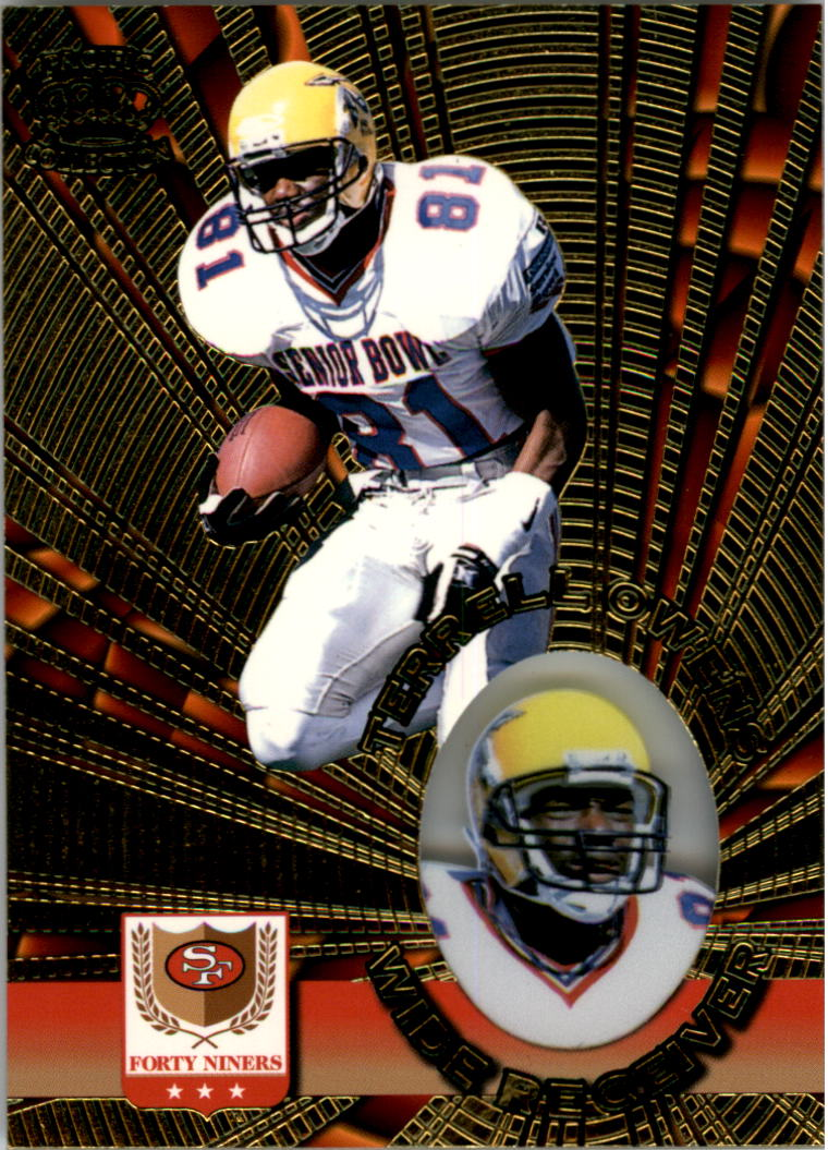 1996 Pacific Invincible #132 Terrell Owens RC