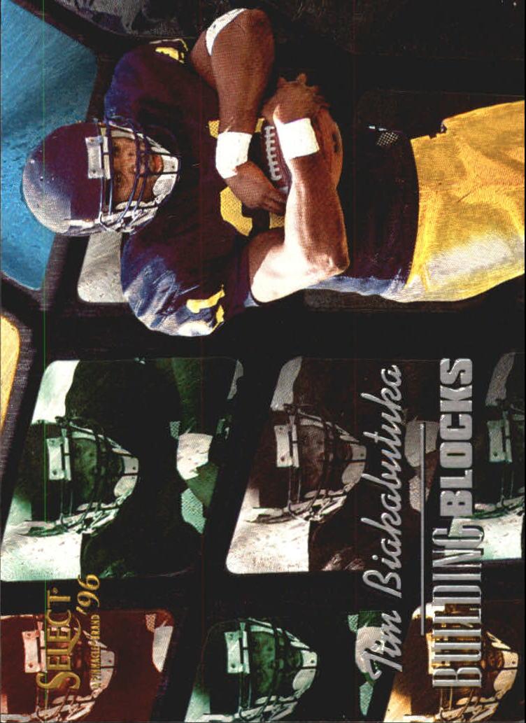 bfcbb2d11 1996 Select Building Blocks Carolina Panthers Football Card  19 Tim  Biakabutuka