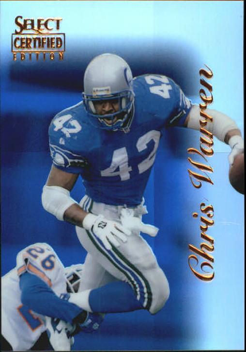 1996 Select Certified Mirror Blue #37 Chris Warren