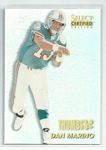 1996 Select Certified Thumbs Up #3 Dan Marino