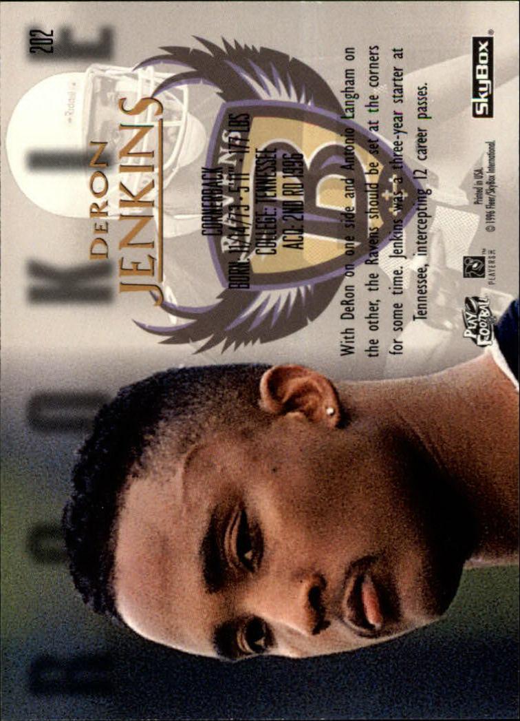 1996 SkyBox Premium #202 DeRon Jenkins RC back image