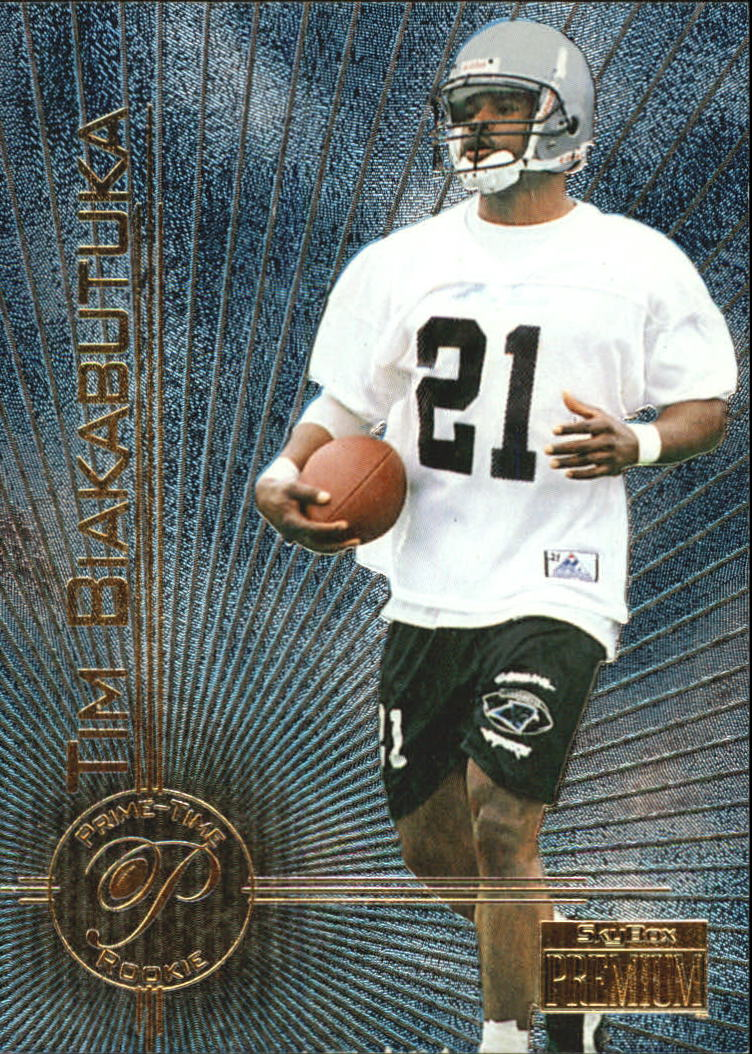 572cdc203 1996 SkyBox Premium Prime Time Rookies  1 Tim Biakabutuka
