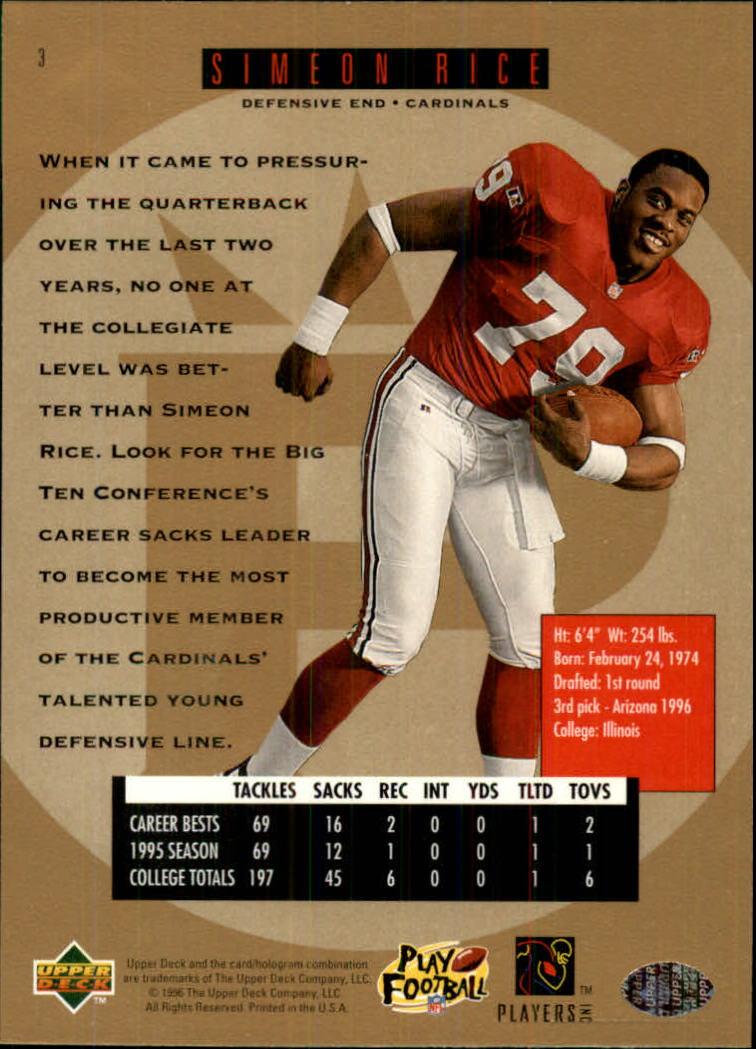 1996-SP-Football-Singles-1-188-Your-Choice-GOTBASEBALLCARDS thumbnail 7