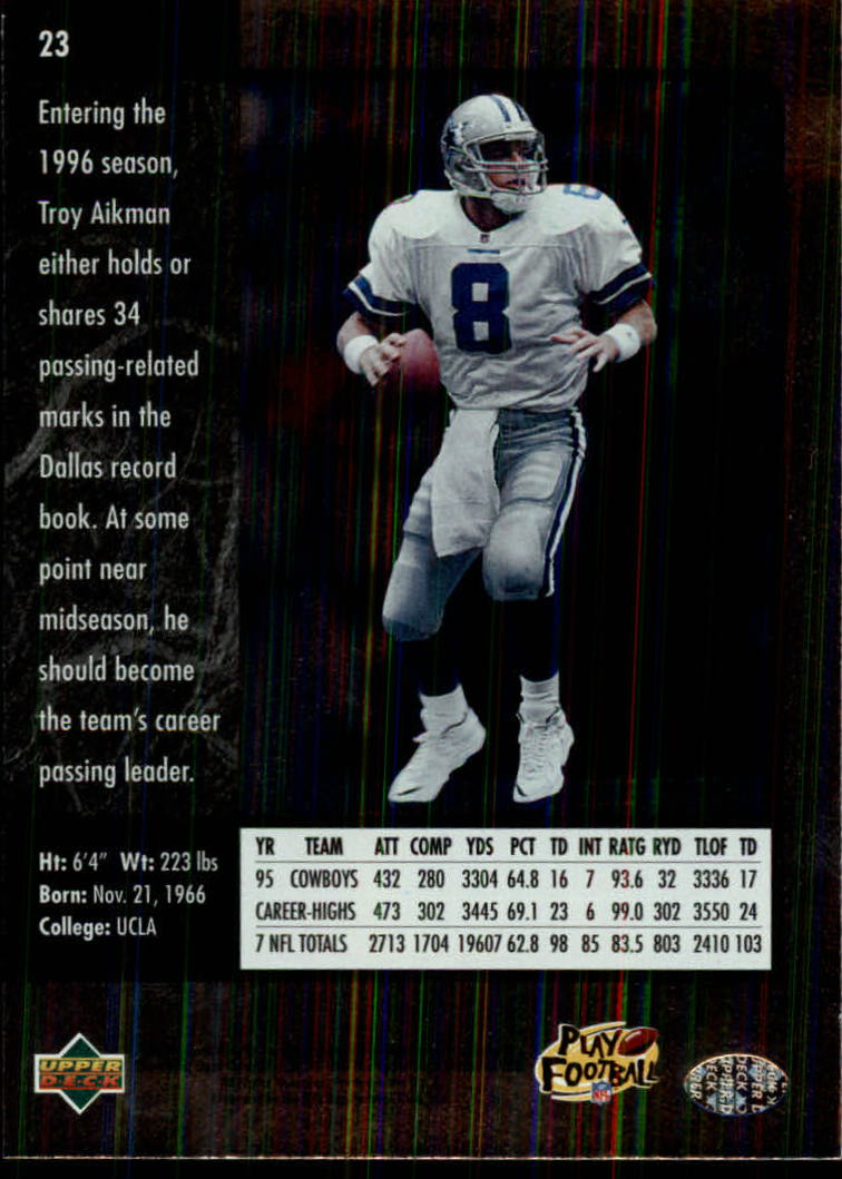 1996-SP-Football-Singles-1-188-Your-Choice-GOTBASEBALLCARDS thumbnail 37