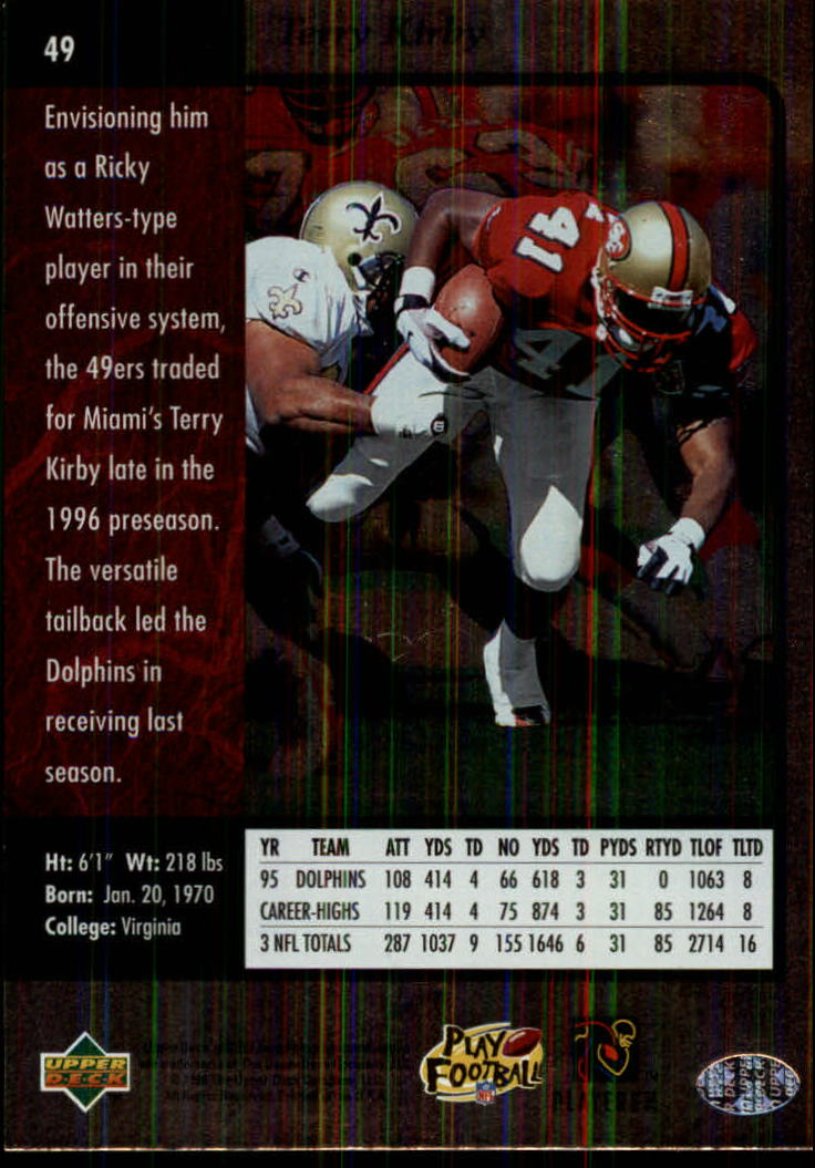 1996-SP-Football-Singles-1-188-Your-Choice-GOTBASEBALLCARDS thumbnail 85
