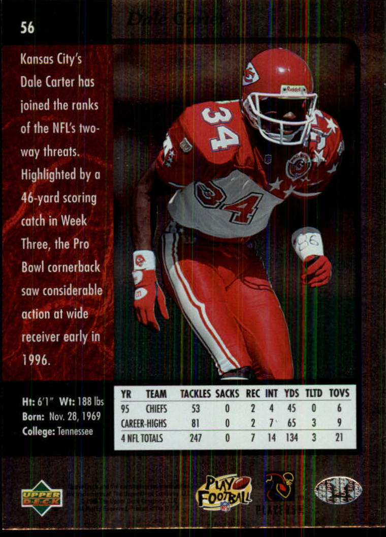 1996-SP-Football-Singles-1-188-Your-Choice-GOTBASEBALLCARDS thumbnail 99