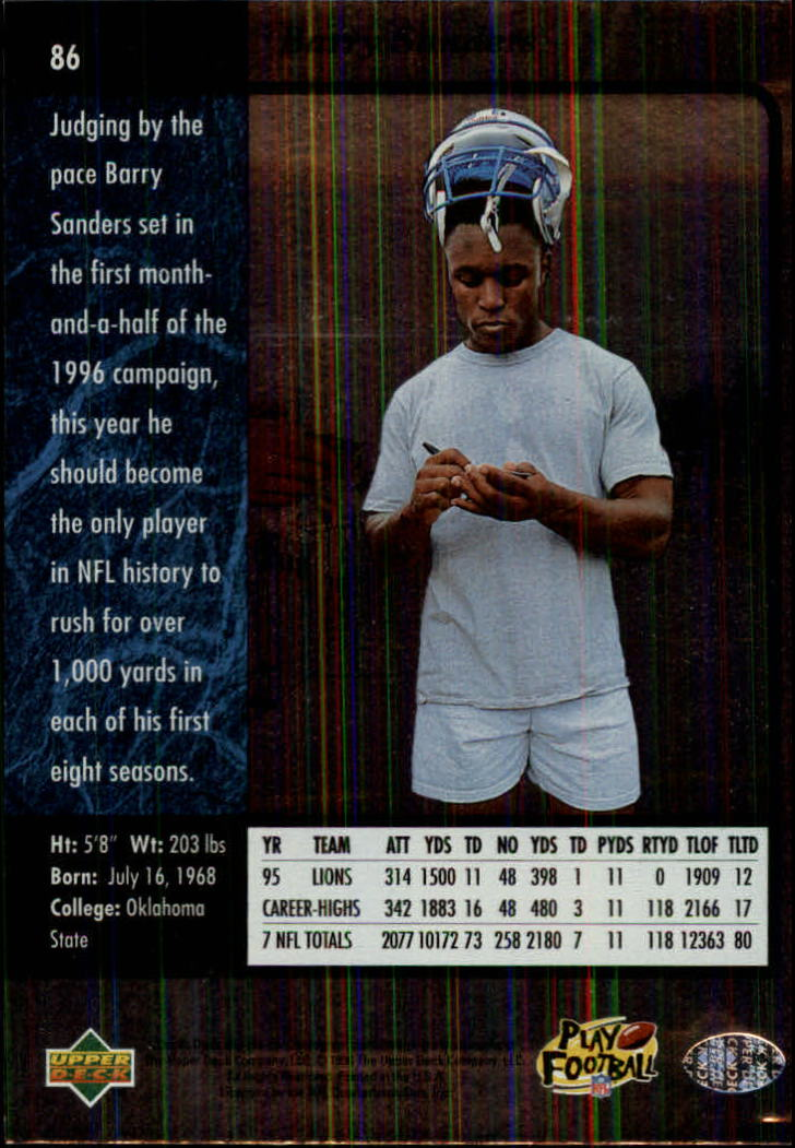 1996-SP-Football-Singles-1-188-Your-Choice-GOTBASEBALLCARDS thumbnail 157
