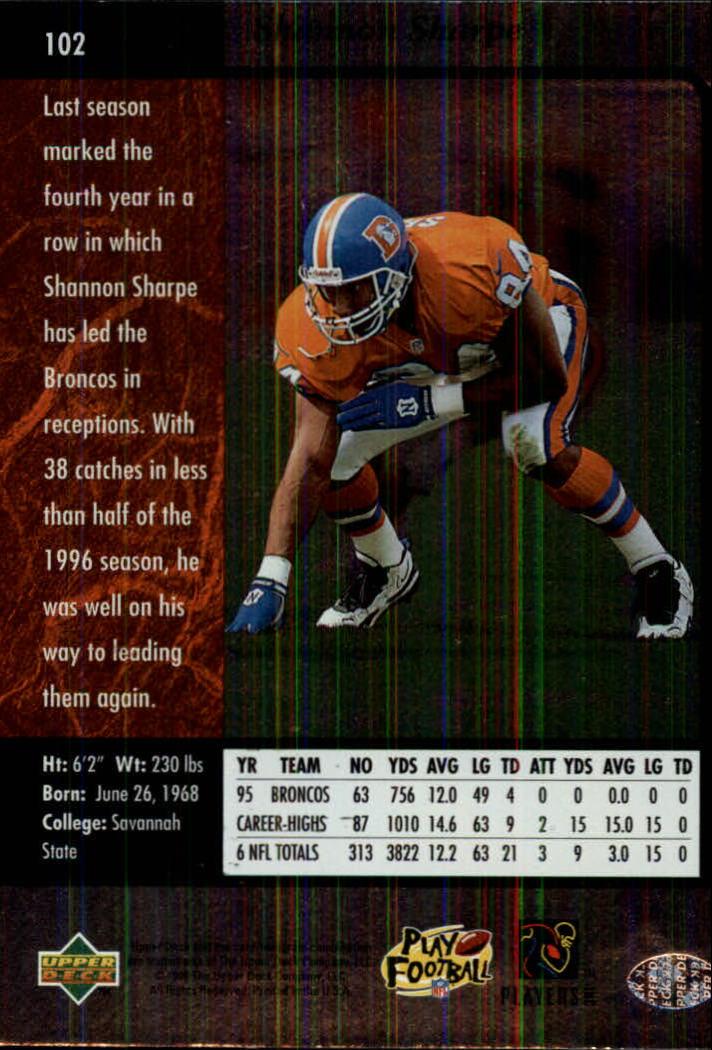 1996-SP-Football-Singles-1-188-Your-Choice-GOTBASEBALLCARDS thumbnail 187