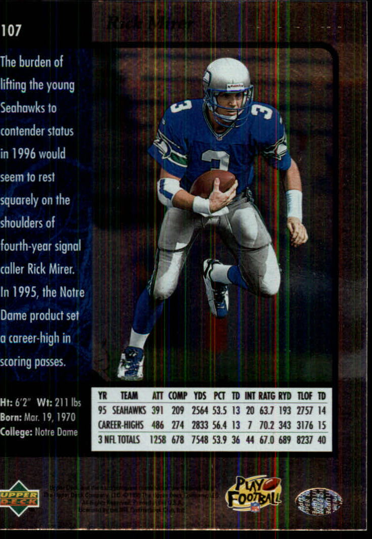 1996-SP-Football-Singles-1-188-Your-Choice-GOTBASEBALLCARDS thumbnail 193