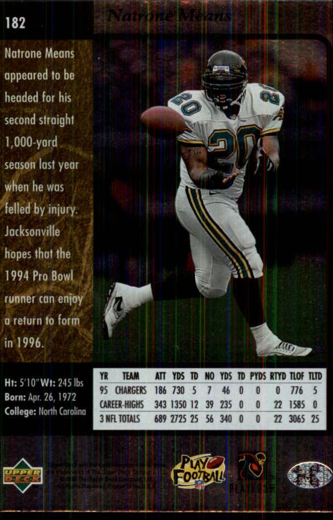 1996-SP-Football-Singles-1-188-Your-Choice-GOTBASEBALLCARDS thumbnail 333