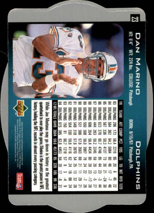 1996 SPx #23 Dan Marino back image