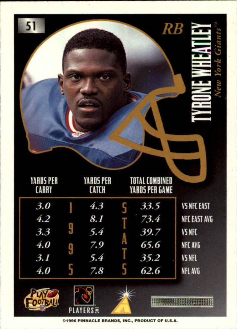 1996 Summit #51 Tyrone Wheatley back image