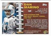 1996 Topps Turf Warriors #TW18 Dan Marino back image