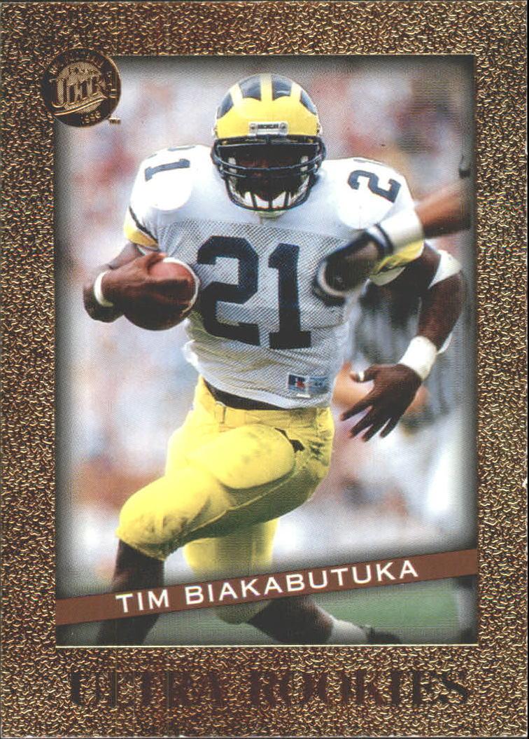 b7024add9 1996 Ultra Rookies  4 Tim Biakabutuka