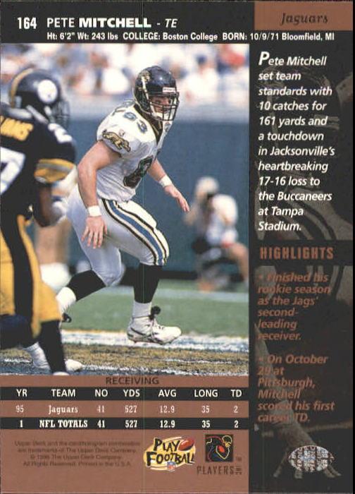 1996 Upper Deck #164 Pete Mitchell back image