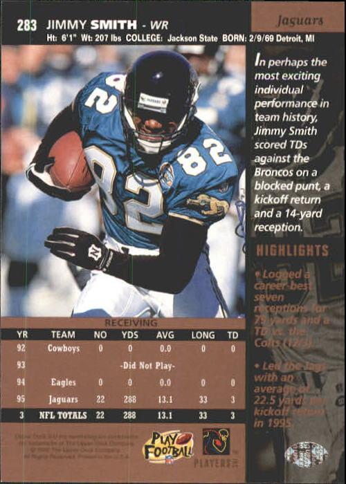 1996 Upper Deck #283 Jimmy Smith back image