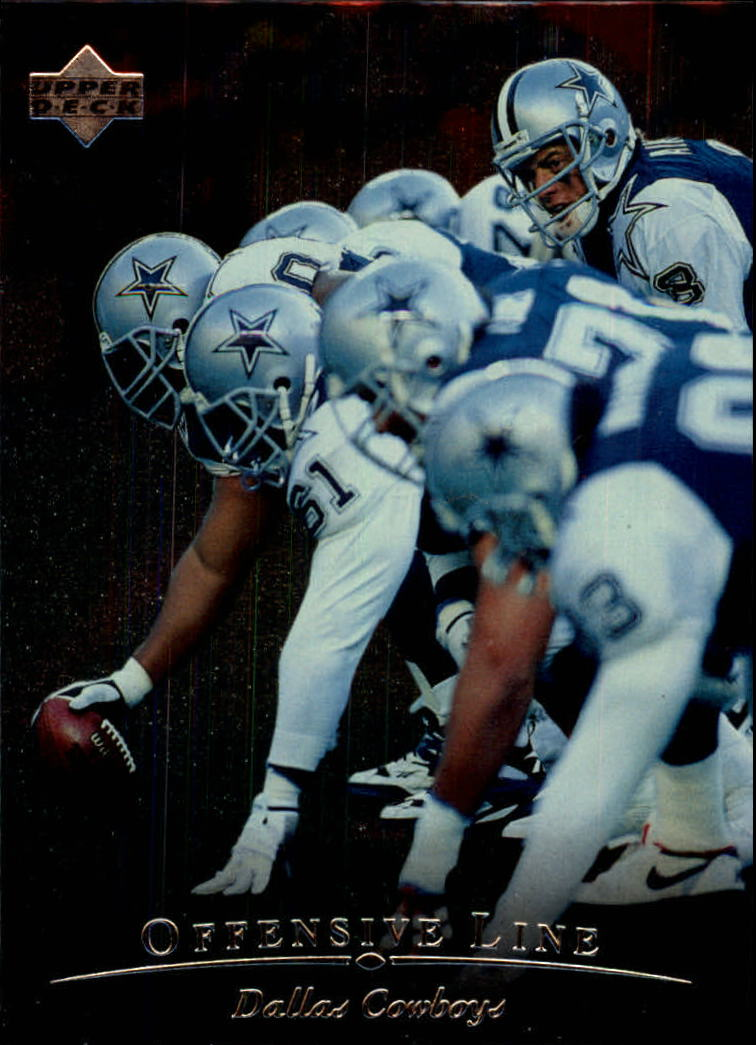 1996 Upper Deck Silver #28 Cowboys Offensive Line