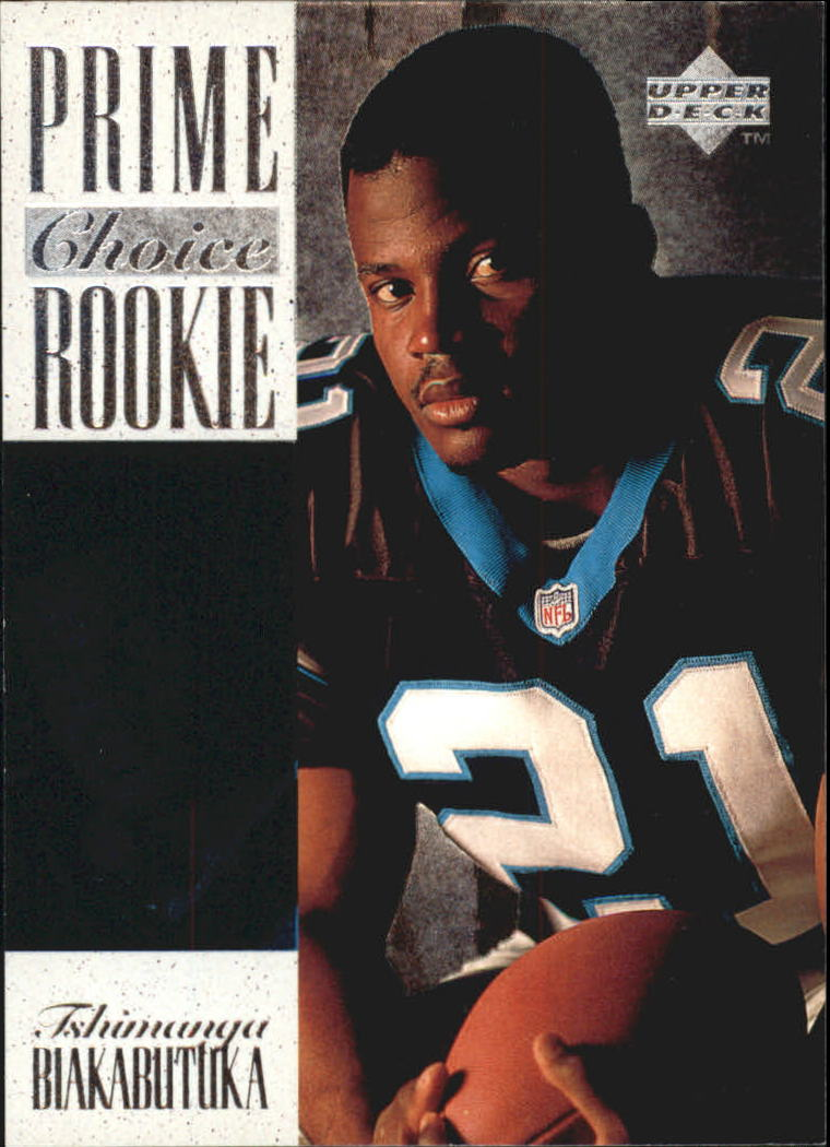 af595beb5 1996 Upper Deck Silver Prime Choice Rookies  4 Tim Biakabutuka