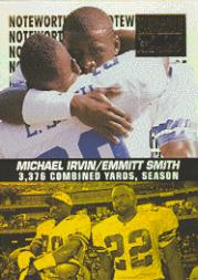 1996 Zenith Noteworthy '95 #5 Emmitt Smith/Irvin