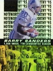 1996 Zenith Noteworthy '95 #8 Barry Sanders