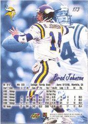 1997 Ultra #173 Brad Johnson back image