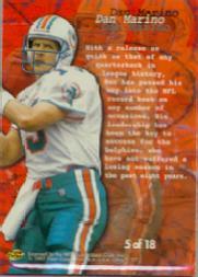 1997 Ultra Blitzkrieg #5 Dan Marino back image
