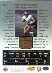 1997 Upper Deck Legends #205 Joe Montana/Dwight Clark SM back image