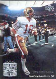 1997 Upper Deck Legends #205 Joe Montana/Dwight Clark SM