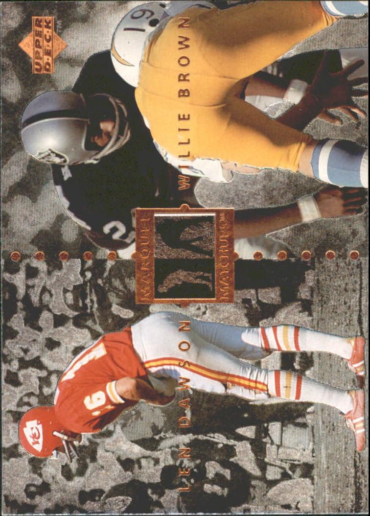 1997 Upper Deck Legends Marquee Matchups #MM21 Len Dawson/Willie Brown