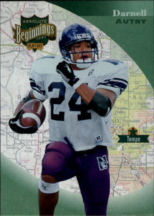 1997 Absolute #38 Darnell Autry RC
