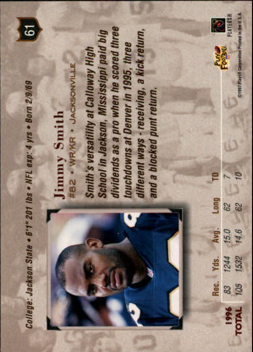 1997 Absolute #61 Jimmy Smith back image