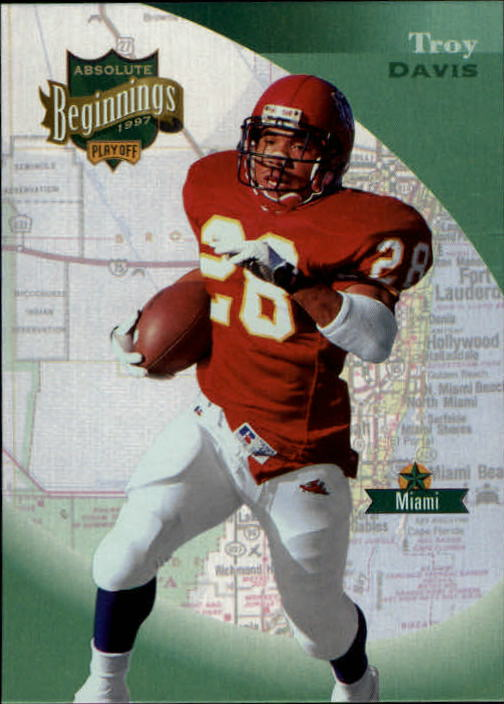 1997 Absolute #77 Troy Davis RC
