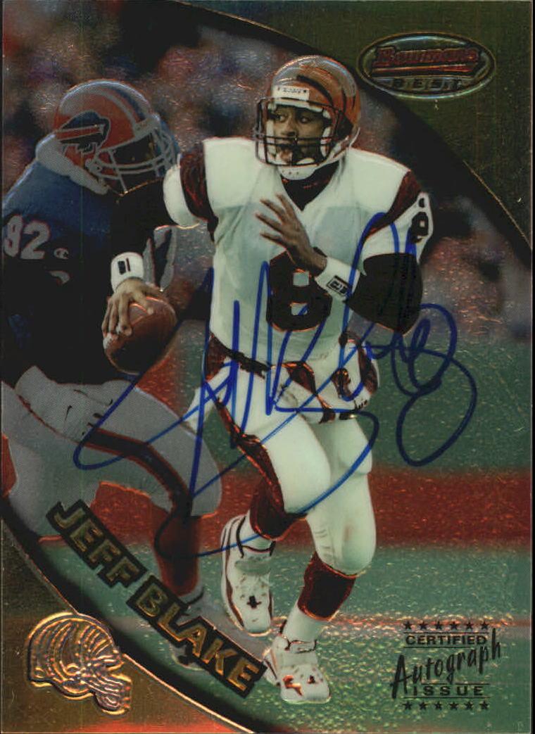 1997 Bowman's Best Autographs #22 Jeff Blake