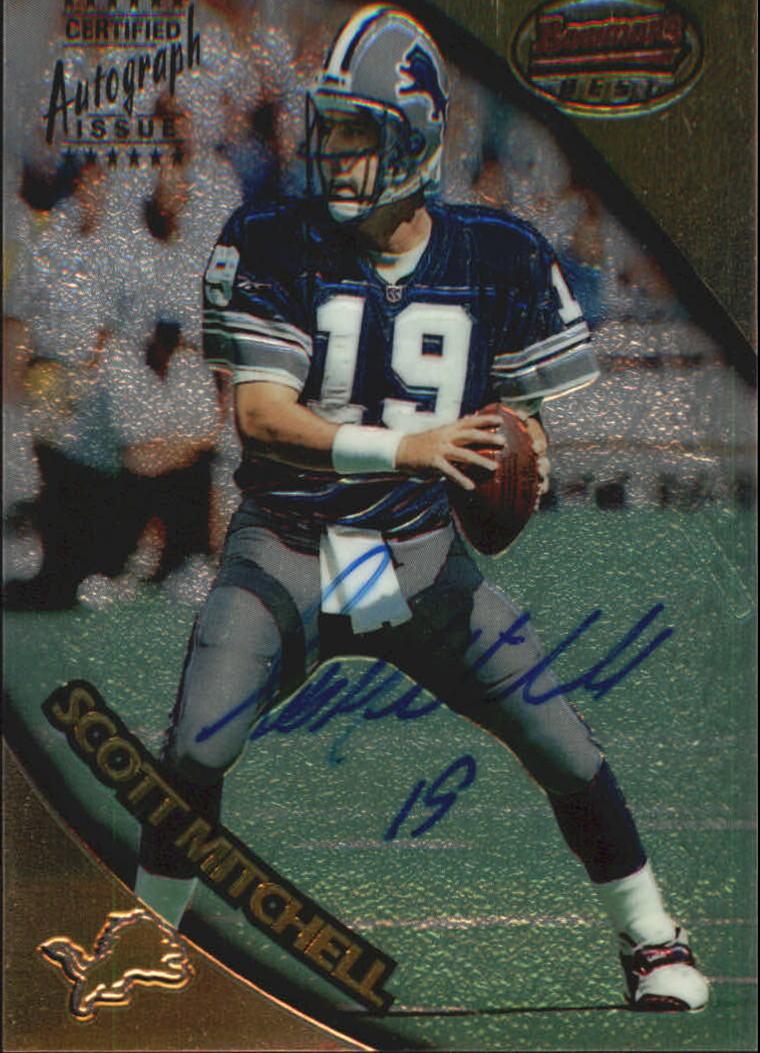1997 Bowman's Best Autographs #44 Scott Mitchell