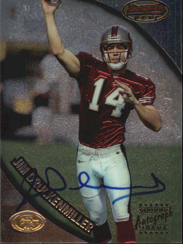 1997 Bowman's Best Autographs #102 Jim Druckenmiller