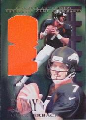 1997 Collector's Edge Extreme Game Gear Quads #10P John Elway Pants