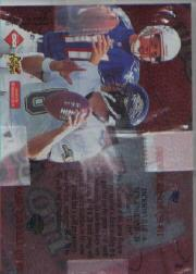 1997 Collector's Edge Masters Playoff Game Ball #8 Drew Bledsoe/Mark Brunell back image