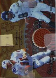 1997 Collector's Edge Masters Playoff Game Ball #8 Drew Bledsoe/Mark Brunell