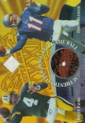 1997 Collector's Edge Masters Super Bowl Game Ball Diamond #1 B.Favre/D.Bledsoe